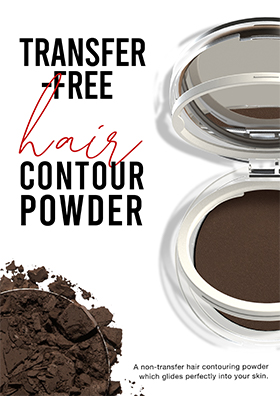 A non-transfer hair contouring powder which glides perfectly into your skin.