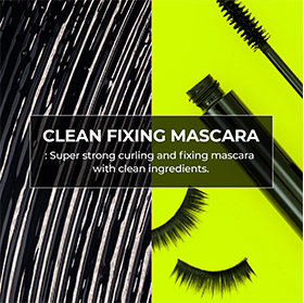 Super strong curling and fixing mascara with clean ingredients.