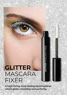 A glitter mascara fixer that makes your eye makeup sparkle and alluring.