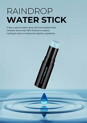 It has a special water drop stick formulation that contains more than 50% moisture content, making it easy to moisturize anytime, anywhere.