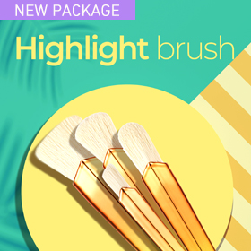 A fan-shaped brush with super soft bristles for effortless, all-over highlighting.