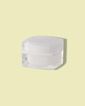Square cream container.