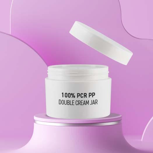 All Parts 100% PCR PP Cream jar