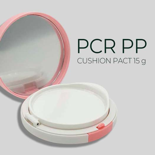 Cushion Pact with PCR PP Inner bottle Outer case PCR ABS
