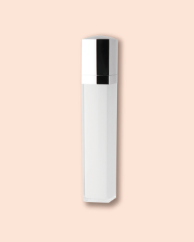 DIPTUBE pump with square shape bottle.