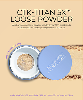 A sebum control loose powder with CTK-TiTan5X™ that blends effortlessly to set makeup and protects skin barrier.