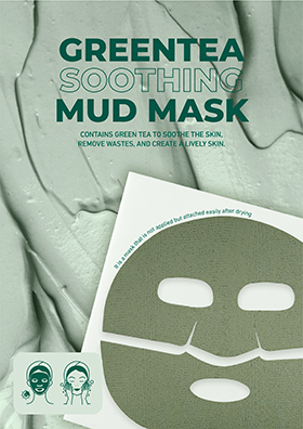 Contains green tea to soothe the skin, remove wastes, and create a lively skin.