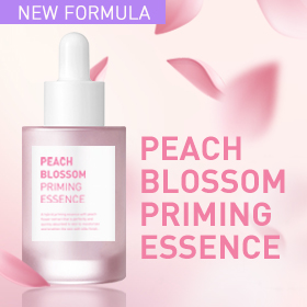 A hybrid priming essence with peach flower extract that is perfectly and quickly absorbed to skin to moisturize and brighten the skin with silky finish.